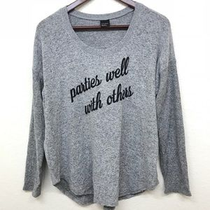 Free Press Parties Well With Others Sweater Small